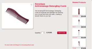 Keranique Anti-breakage Detangling Comb