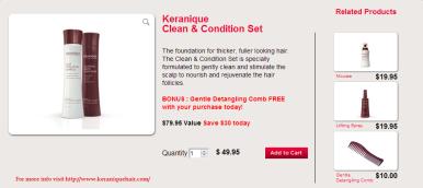 Keranique Clean & Condition Set