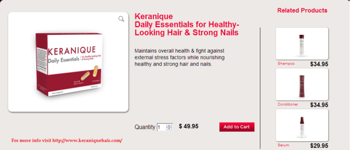 Keranique Daily Essentials for Healthy-Looking Hair & Strong Nails