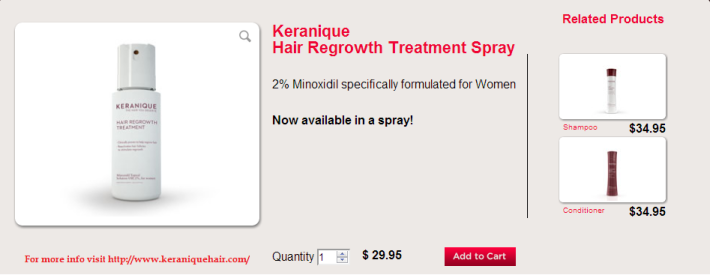 Keranique Hair Regrowth Treatment Spray