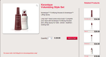 Keranique Volumizing Style Set